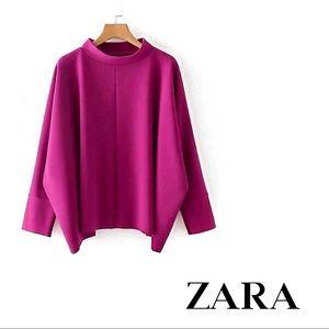 Zara | Basic Long Sleeve Dolman Blouse